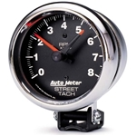 Auto Meter 2895 Traditional Chrome Air-Core Pedestal Tach, 8k, 3-3/4