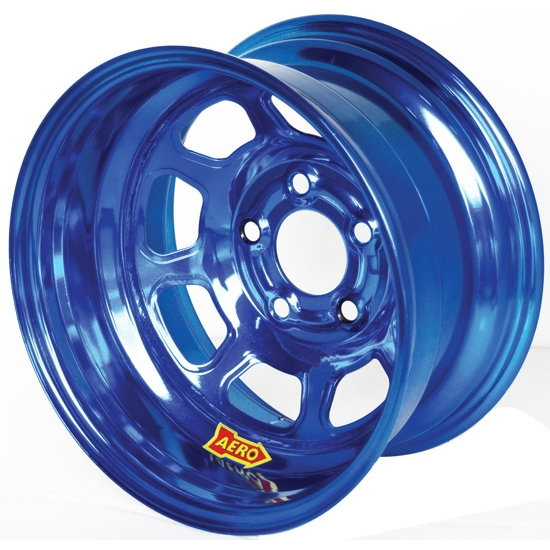 Aero 50-974530BLU 50 Series 15x7 Inch Wheel, 5 on 4-1/2 BP 3 Inch BS