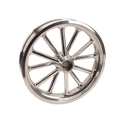 Radir 18x3 Inch Spindle Mount Wheel, 1949-54 Chevy Spindles, Polished