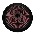 Speedway Super Flow 14 Inch Air Filter Top, Black