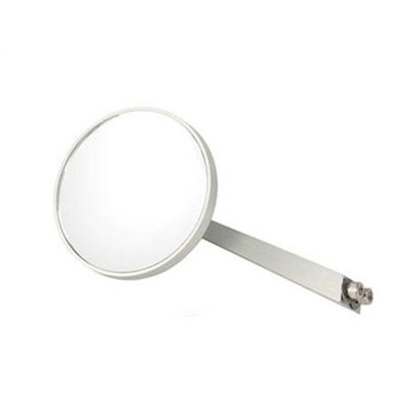 Passenger Side Billet Round Mirror, 4-1/4 Inch Arm