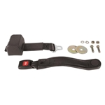 Garage Sale - Push Button Retractable Lap Belt, Black