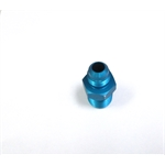 Garage Sale - Blue Straight AN6 Flare Adapter to 3/8 Inch Aluminum Pipe Fitting