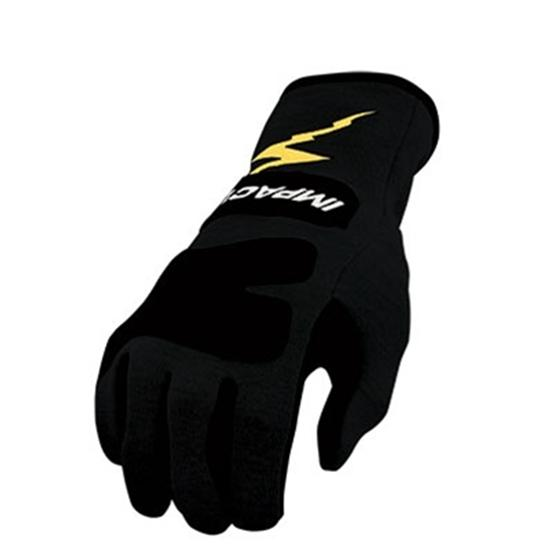 Garage Sale - Impact Racing Black SFI 3.3/5 JG4 Jr. Racing Gloves, Size Medium