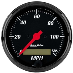 Auto Meter 1488 Designer Black Air-Core Speedometer Gauge, 3-1/8 Inch