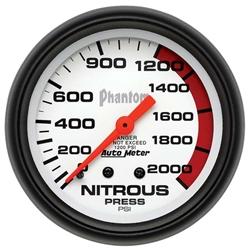 Auto Meter 5828 Phantom Mechanical Nitrous Pressure Gauge, 2-5/8 Inch