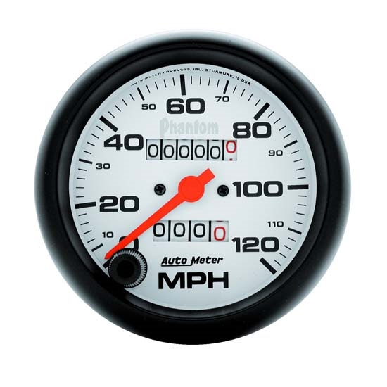 Auto Meter 5892 Phantom Mechanical Speedometer, 120 MPH, 3-3/8 Inch