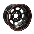 Bassett 58D52WRB Wissota RF Wheel Big Bell Out, 5 on 5 Inch, Black