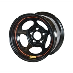 Bassett 58AC4 15X8 Inertia 5 on 4.75 4 Inch Backspace Black Wheel