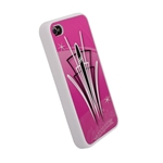 Pinstriped iPhone Cover - Pink