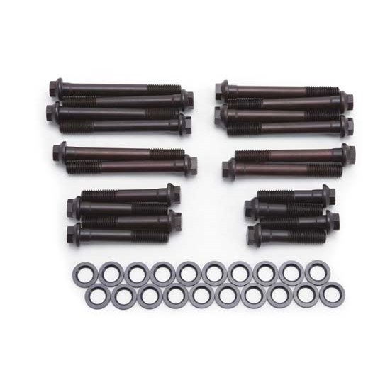 Cylinder Head Bolts Set: Edelbrock 8556 Cylinder Head Bolt Set, 12-Point Head
