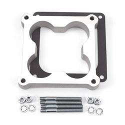 Edelbrock 8718 4- Barrel Carburetor Spacer, Aluminum, 1 Inch