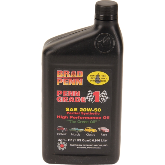Brad Penn 20w 50 High Performance Engine Oil 1 Quart