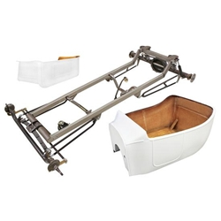 Basic 1923 T-Bucket Frame Kit w/ Standard Body and Bed, Channeled Floor