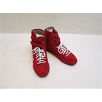 Garage Sale - Simpson Suede Leather Hightop Racing Shoes, Red, Size 6.5