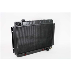 Dewitts 1239002A 1966-67 Chevelle SB/BB Direct Fit Radiator, Blk, Auto