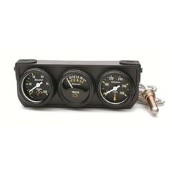 Auto Meter 2396 Auto Gage 3 Gauge Console, Oil/Volt/Water