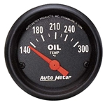 Auto Meter 2639 Z-Series Air-Core Oil Temperature Gauge, 2-1/16 Inch
