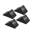 Race Ramps Rubber Wheel Chocks, Set/4
