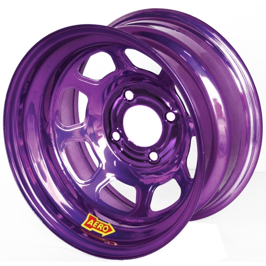 Aero 31-984010PUR 31 Series 13x8 Wheel, Spun, 4 on 4 BP, 1 Inch BS