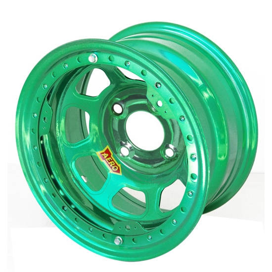 Aero 33-974010GRN 33 Series 13x7 Wheel, Lite, 4 on 4 BP, 1 Inch BS