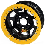 Aero 53-124550 53 Series 15x12 Wheel, BLock, 5 on 4-1/2 BP, 5 Inch BS