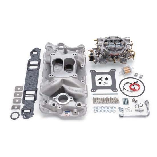 Edelbrock 2020 Single-Quad Intake Manifold/Carburetor Kit
