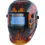 Titan Tools 41266 Solar Powered Auto Darkening Welding Helmet, Flames