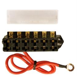 Slimline 12V 6 Terminal Fuse Block