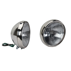 1930-31 Ford Model A Style Headlights, Stainless Steel