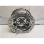 Garage Sale - Bassett D-Hole IMCA Approved Wheel, 15x8, 5on5, Beadlock, Silver