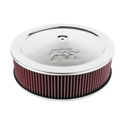 K&N 60-1290 Air Filter Assembly, 4in Tall, Red, Round