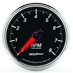 Auto Meter 1296 Designer Black II Air-Core In-Dash Tachometer Gauge