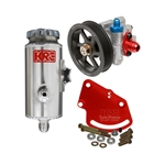 Garage Sale - KRC Pro Aluminum SBC Pump Kit, Serpentine, Head Mount, Remote Reservoir