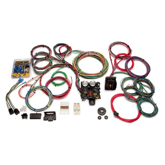 Universal Automobile Wiring Harness : Painless wiring circuit universal mucscle car