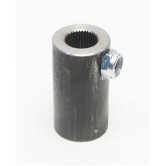 Sweet Mfg. Steering Coupler, 3/4 20 Spline to 3/4 Round Non-Flex Coupler