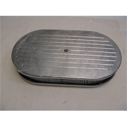 Garage Sale - Ball Milled Billet-Style Oval Air Cleaner, 15 Inch