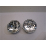 Garage Sale - Speedway 7 Inch Tri-Bar Headlights W/Clear Turn Signal Lens