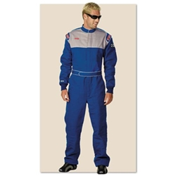 Garage Sale - Simpson Sportsman Elite II Racing Suit, One Piece, Double Layer, Blue, Size XXL