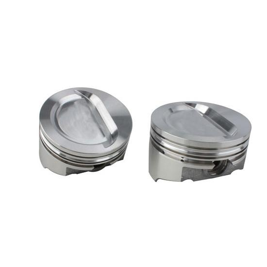 KB Chevy 377 Hypereutectic Pistons, Dish, 6.0 Inch Rod