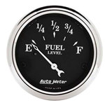 Auto Meter 1718 Old Tyme Black Air-Core Fuel Level Gauge, 2-1/16 Inch