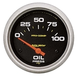 Auto Meter 5427 Pro-Comp Air-Core Oil Pressure Gauge, 100 PSI, 2-5/8