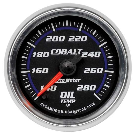 Auto Meter 6156 Cobalt Digital Stepper Motor Oil Temperature Gauge
