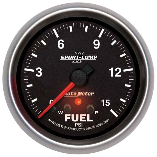 Auto Meter 7661 Sport-Comp II Digital Stepper Motor Fuel Press Gauge