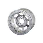 Bassett 58DC3CL 15X8 D-Hole 5 on 4.75 3 Inch BS Chrome Beadlock Wheel