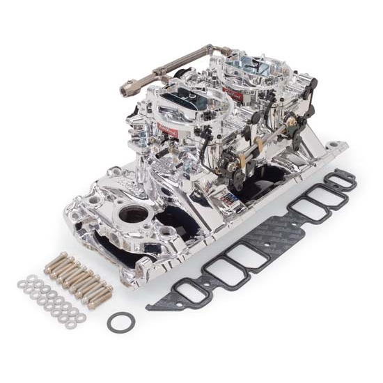 Edelbrock 20664 rpm air gap dual quad intake manifold for Rpm motors lincoln ne