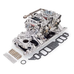 Edelbrock 20664 RPM Air-Gap Dual-Quad Intake Manifold/Carburetor Kit