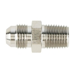 Nickel Straight Flare to Aluminum Pipe Adapter Fitting, -8 AN to 1/2 Inch NPT