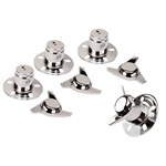 Gorilla Automotive 63515 Chrome 3 Bar Swept Wing Spinners w/Towers, Pack of 4