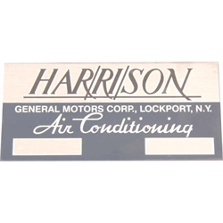 Jim Osborn DC0071 Harrison A/C Decal for 1962-64 Chevy II